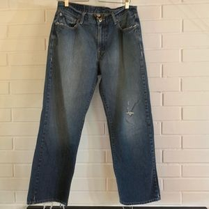 Lucky Brand 🍀 Jeans 32 Distressed Straight Leg